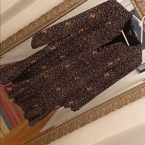 Madewell long sleeve shift dress